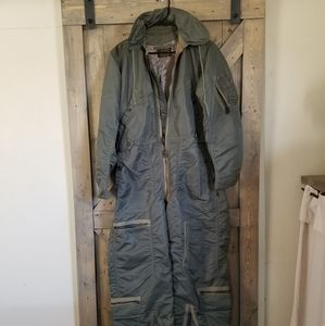 Other - Vtg Flight Suit Upcycled Hunting Coveralls Med L
